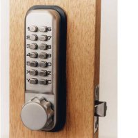 Keyless security keypad door lock