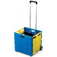 Folding Canvas Bag or Plastic Box Truck with Optional Lid