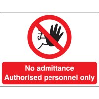 No Admittance Authorised Personnel Only Stanchion Signs