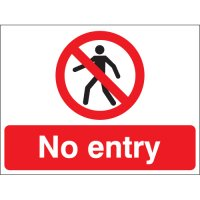 Vinyl, Plastic And Aluminium No Entry Stanchion Signs