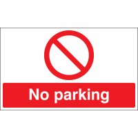 No Parking Stanchion Signs