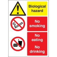 Biological Hazard & No Smoking... Multi-Message Signs