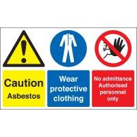 Caution Asbestos... Multi-Message Stanchion Signs