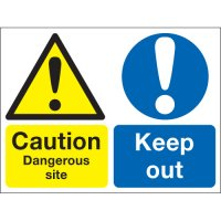 Caution Dangerous Site... Multi-Message Signs