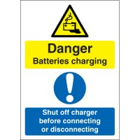 Danger Batteries Charging... Multi-Message Signs