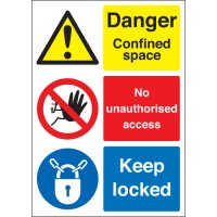 Danger Confined Space... Multi-Message Signs
