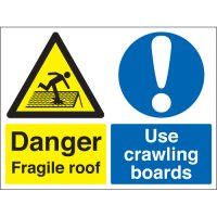 Danger Fragile Roof... Multi-Message Signs