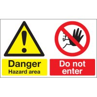 Danger Hazard Area... Multi-Message Signs