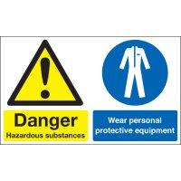Danger Hazardous Substances... Multi-Message Signs