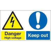 Danger High Voltage... Multi-Message Signs