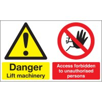 Danger Lift Machinery... Multi-Message Signs