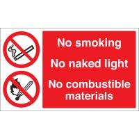 No Smoking, No Naked Light... Multi-Message Signs