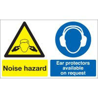 Noise Hazard, Ear Protectors... Multi-Message Signs