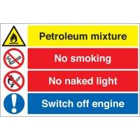 Petroleum Mixture... Multi-Message Stanchion Signs