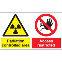 Radiation Controlled Area... Multi-Message Signs