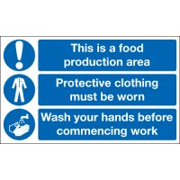 This Is A Food Production Area... Multi-Message Signs