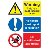 Plastic Multi-Hazard Multi-Message Visitor Signs