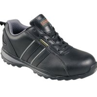 Unisex safety trainer shoes with steel toecap