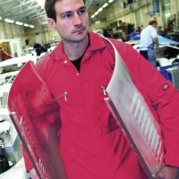Red Zip Front Coverall 40 L