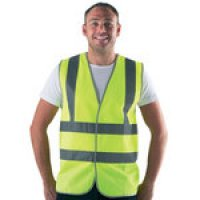 High-Visibility Waistcoats with Braces for Cyclists, Building Sites and more