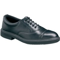 Leather Oxford-Style Safety Shoes with Steel Toecaps