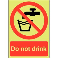 Do Not Drink Photoluminescent Signs