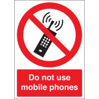 Universal, prohibitive mobile phone sign