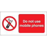 Do Not Use Mobile Phones Photoluminescent Signs