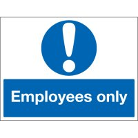 Employees Only Photoluminescent Signs