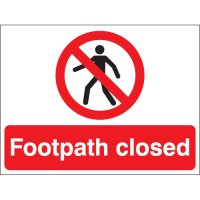 Footpath Closed Stanchion Signs