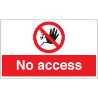 No Access Stanchion Signs