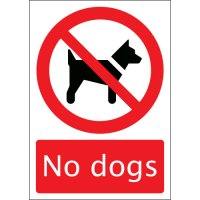 Resilient, multi-surface no dogs sign
