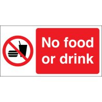 No Food Or Drink Photoluminescent Signs