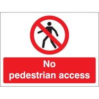 No Pedestrian Access Stanchion Signs