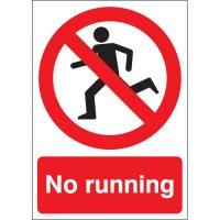 Bold 'No Running' Signs