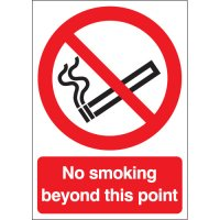 No Smoking Beyond This Point Polycarbonate Signs