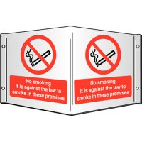 No Smoking It Is Against The Law... Projecting 3D Signs