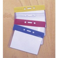 Multicoloured Plastic Badge Pocket Holders