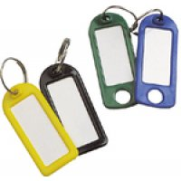 Reusable Split Ring Key Tags