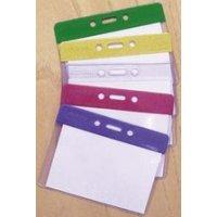 Multicoloured Plastic Badge Pocket Holders