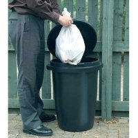 Hardwearing and durable plastic dustbin