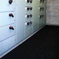 Slip-Resistant Fluted Rubber Switchboard Matting
