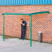 Large Easy-Installation Wall-Mounted Smoking Shelter