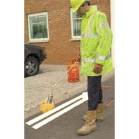 Thermoplastic road marking system for traffic control