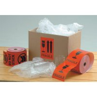 Clear, informative adhesive international shipping labels