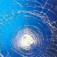 Safety window film holds broken glass together