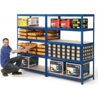 Industrial safety shelving with 265kg load capacity