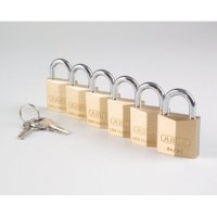 Abus Economic 6-Pack Non-Corrosive Brass Padlocks