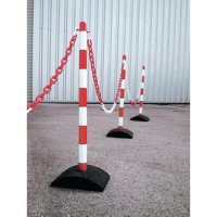 Economy plastic bollards and chain barrier kit