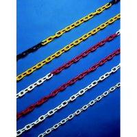 Durable coloured plastic bollard chains